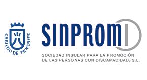 Logos del Cabildo Insular de Tenerife y de SINPROMI