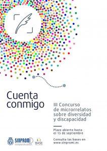 Cartel del concurso de microrelatos sobre diversidad y discapacidad