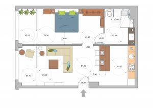 Plano casa accesible